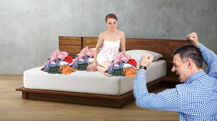 Area Man Divorces Wife After Catching Her Folding Laundry