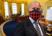 Biden Suffers Near Fatal Heart Attack While Putting on Tenth Mask